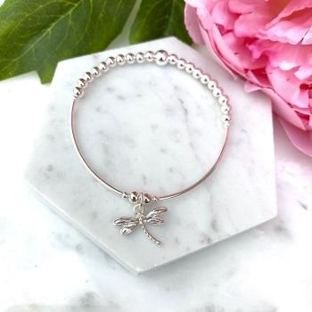Noodle Bracelet - Dragonfly - Silver
