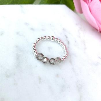 Grey Bead - Ring