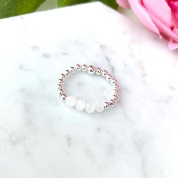 White Bead - Ring