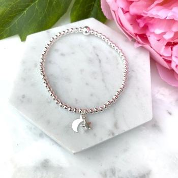 Star & Moon Bracelet - Silver