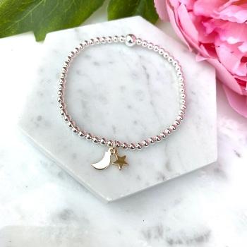 Star & Moon Bracelet - Gold