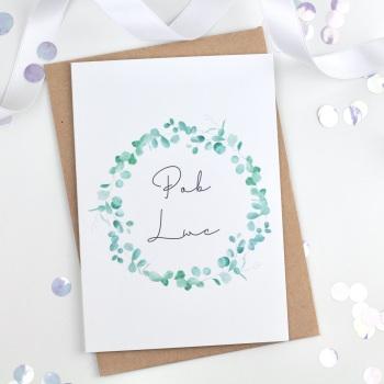 Greenery Wreath - Pob Lwc - Card