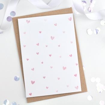 Dotty Hearts - Plain - Card