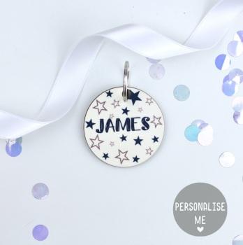 Starry - Personalised - Keyring