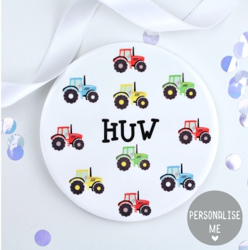 Tractors - Personalised Coaster
