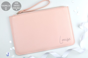 Personalised Clutch/Pouch Bag - Pink