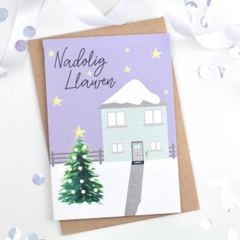 Christmas Scene - Nadolig Llawen - Card