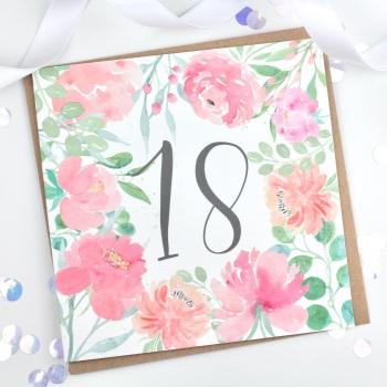 Floral Flourish  - 18 - Card