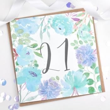 Floral Flourish  - 21 - Card