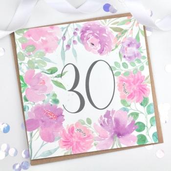 Floral Flourish  - 30 - Card