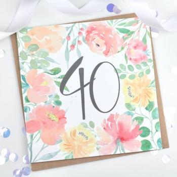 Floral Flourish  - 40 - Card