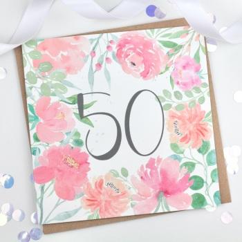 Floral Flourish  - 50 - Card