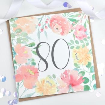 Floral Flourish  - 80 - Card