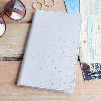 Grey & Gold Star - Travel Wallet