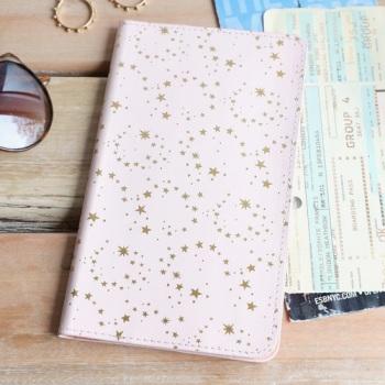 Pink & Gold Star - Travel Wallet