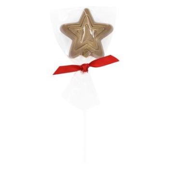 Golden Star Lollipop - Milk