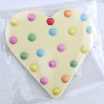 White Chocolate & Beans - Chocolate Heart