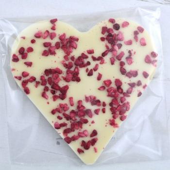 White Chocolate & Raspberry - Chocolate Heart