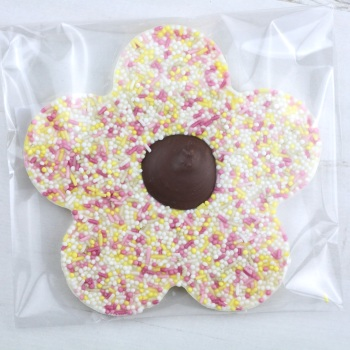 White Chocolate & Sprinkles - Chocolate Flower