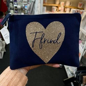 Heart - Ffrind Bag - Navy