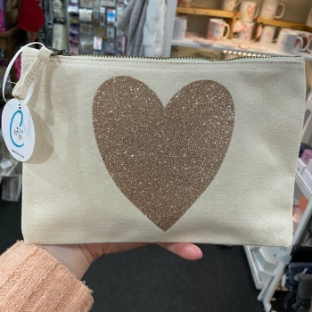 Heart Bag - Natural - Various Colour Choices