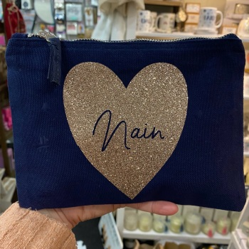 Heart - Nain Bag - Navy