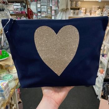 Heart - Wash Bag - Various Colour Choices