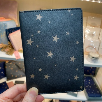 Starry Leather - Travel Wallet - Grey & Rose Gold