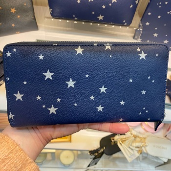 Starry Leather - Purse - Navy & Silver