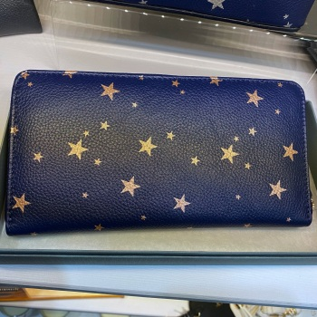Starry Leather - Purse - Navy & Rose Gold