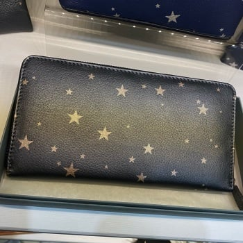 Starry Leather - Purse - Grey & Rose Gold