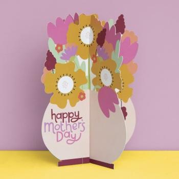 Flower Vase Happy Mother's Day - 3D Card