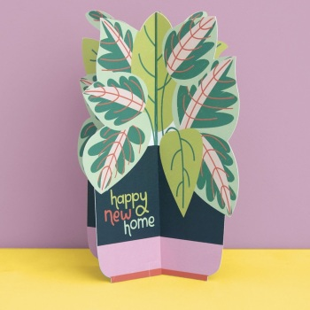 Plant New Home - 3D Card
