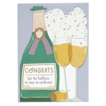 Congrats Bubbles - Cut out Card