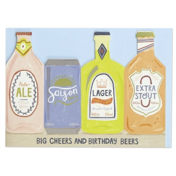 Beers Birthday - Cut out Card