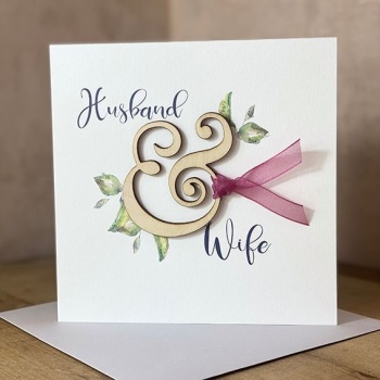 Husband & Wife - Wooden Card