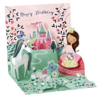Unicorn Castle Happy Birthday - Pop Up Card - Trinket