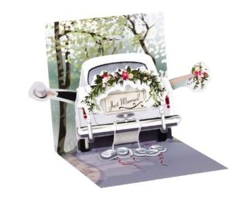 Just Married - Pop Up Card - Trinket