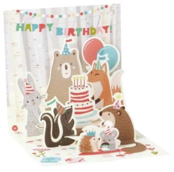 Forest Animals Happy Birthday - Pop Up Card - Trinket