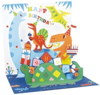 Dinosaur Happy Birthday - Pop Up Card