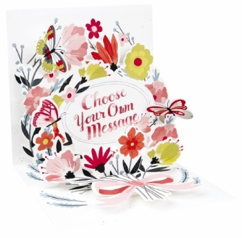 Floral (Own Message) - Pop Up Card