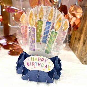 Happy Birthday - 3D Globe Card