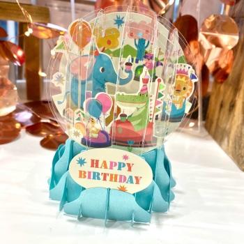 Animals Birthday - 3D Globe Card