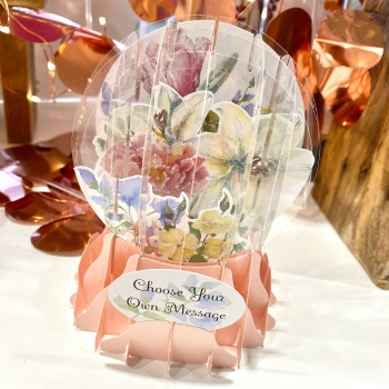 Floral (Own Message) - 3D Globe Card