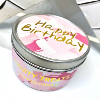 Happy Birthday - Tin Candle