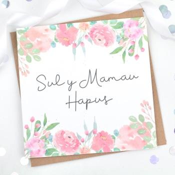 Sul y Mamau Hapus Floral  - Card