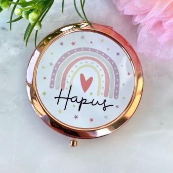 Hapus - Rainbow - Compact Mirror - Rose Gold