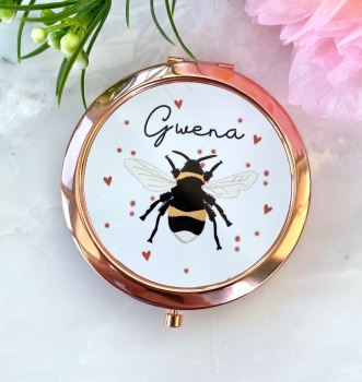 Gwena - Bee - Compact Mirror - Rose Gold