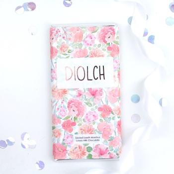 Diolch - Floral Milk Chocolate Bar