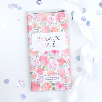 Penblwydd Hapus - Floral Milk Chocolate Bar